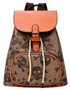 New Trending Backpacks: Aivtalk Womens Retro Skull Printing Backpack Casual Canvas Bag Shoulders Bag-Brown. Aivtalk Women's Retro Skull Printing Backpack Casual Canvas Bag Shoulders Bag-Brown  Special Offer: $30.61  499 Reviews Features:Organizational compartments for pens, keys, and cell phoneHigh capacityHigh quality fabrics Specifications:Material: CanvasAsian Size: 28 * 16 *...