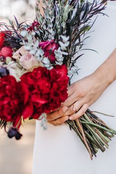 Bridal bouquet, Herkimer Ring by Torchlight Jewelry