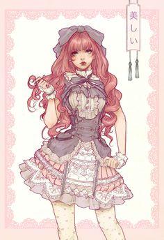 Jasmin. Sirvienta con su traje oficial de servicio en casa noble.