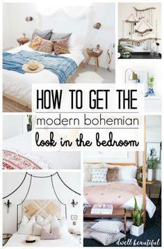 Modern Bohemian Bedroom Inspiration - Get design tips and tricks for bringing the modern boho style into your home plus links to amazingly gorgeous boho decor pieces!