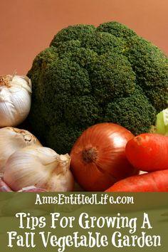 Tips For Growing A Fall Vegetable Garden http://www.annsentitledlife.com/produce/tips-for-growing-a-fall-vegetable-garden/