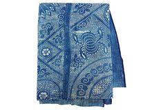 Indigo  Batik Textile Panel on OneKingsLane.com