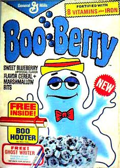 Boo berry cereal. Good. Breakfast cereal. Remembering the 70's.