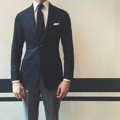 mens spring and summer fashion – Alllick Formal Dresses For Men, Men Formal, Mens Fashion Suits, Fashion Outfits, Men's Fashion, Street Casual Men, Style Costume Homme, Navy Sport Coat, Flannel Suit