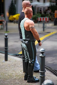 """hyperleather: """" leathered muscle ginger in Berlin 2010 """" Ty? Is that you?"""