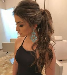 65 Gorgeous Ponytail Hairstyles You'll Love To Try Daily - Page 20 of 65 - Chic Hostess - Schönheit und Gesundheit - Hair Styles Trendy Hairstyles, Wedding Hairstyles, Prom Ponytail Hairstyles, Bridesmaid Hair Ponytail, Hairstyle Ideas, Prom Hair Up, Party Hairstyles For Long Hair, Ponytail Hairstyles Tutorial, Gorgeous Hairstyles