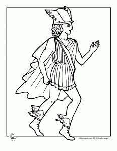 greek myths coloring page mercury