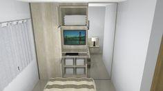 Suite River Side 02 qtos Arauco Carvalho Ibiza e Arauco Branco Supremo puxador de perfil embutido, corrediças e dobradiças com amortecimento