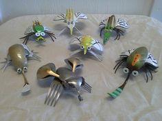 Spoon fork flatware bug silverware #flatwaresculpture