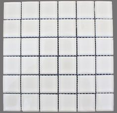 Loft Super White Polished 2 X 2 Glass Tiles $15.99
