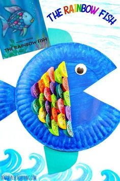 The Cutest Paper Plate Fish Craft, The Rainbow Fish Craft Activity for Kids, Under the Sea Preschool Theme, Paper Plate Crafts, Ocean Craft, Easy Craft idea #crafts