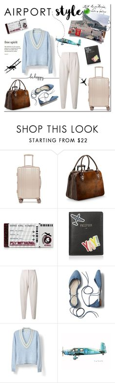 """AIRPORT MY STYLE!!!!!!!!!!!!!!!"" by tatajrj ❤ liked on Polyvore featuring CalPak, Aspinal of London, Karl Lagerfeld, FOSSIL, MaxMara, Gap and airportstyle"