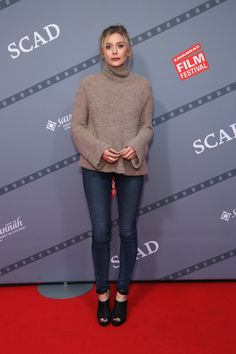 """Actress Elizabeth Olsen of """"I Saw the Light"""" poses for a photo during the Closing Night Screening Of """"I Saw the Light"""" and Awards Presentation at Trustees Theater during 18th Annual Savannah Film Festival Presented by SCAD on October 31, 2015 in Savannah, Georgia."""