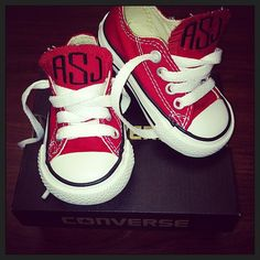 Baby Monogrammed Converse by OneThirtyOneDesigns on Etsy, $50.00