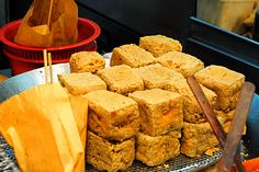 Fried stinky tofu - so good with some plum sauce and hot sauce.