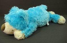 "12"" Blue BEAR Floppy Furry Foland Sureshot Plush Stuffed Toy B163"