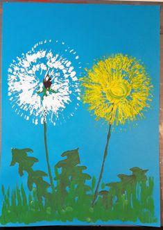 rozstrihat na tenke pasiky a otlacat dookola Summer Crafts For Kids, Summer Art, Art For Kids, Spring Art Projects, Spring Crafts, Toddler Crafts, Preschool Crafts, Art Montessori, Dandelion Painting
