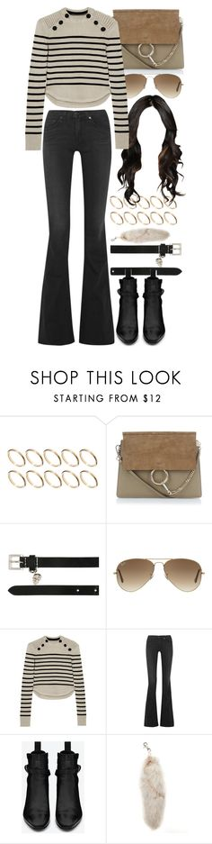 """Untitled #8198"" by nikka-phillips ❤ liked on Polyvore featuring ASOS, Chloé, Alexander McQueen, Ray-Ban, Isabel Marant, rag & bone and Yves Saint Laurent"