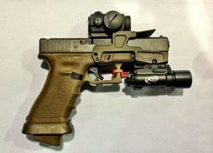 Glock pistol with extras