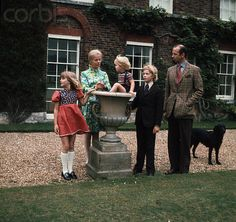 The Kents, left to right:  Lady Helen, Katharine, Duchess of Kent, Lord Nicholas, George, Earl of St. Andrews, and Prince Edward, Duke of Kent.