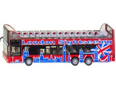 The 1/87 Doubledecker Sightseeing Coach - London from the Siku Super Series - Discounts on all Siku Diecast Models at Wonderland Models.    One of our favourite models in the Siku Super Series 1/87 Scale range is the Siku Doubledecker Sightseeing Coach - London.    Siku manufacture wonderful, amazingly accurate and detailed diecast models of all sorts of vehicles, particularly buses including this Doubledecker London Sightseeing Coach.