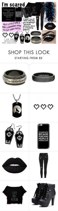 """The Monster Inside"" by rebel-winchester ❤ liked on Polyvore featuring Disney, Wolf & Moon, Retrò, GET LOST, Curiology, Casetify, Lime Crime and River Island"