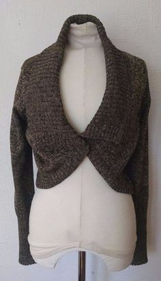 Back From Bali Womens Sheer Shrug Cardigan Sweater Ruffle ...