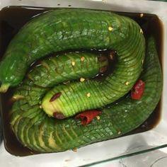 snake cucumber salad