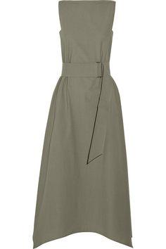 Lemaire|Belted cotton dress|NET-A-PORTER.COM