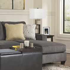 Harriett 93  Right-Facing Sectional Sofa u0026 Reviews   Joss u0026 Main : joss and main sectional - Sectionals, Sofas & Couches
