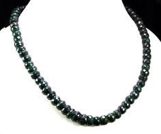 Natural Emerald 446ct Big Size Faceted Beaded Gemstone Strings Necklace #Handmade #StrandString