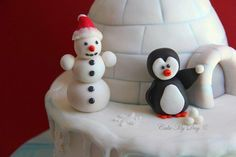 Last cake from last year :) It was fun making all the snow details in about 30 degrees C summer day :)