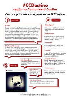 Os presentamos el #CCDestino según la #ComunidadCoelho. Vuestras palabras e imágenes. Compartidlas con todo el mundo! - www.elmanuscritoencontradoenaccra.com