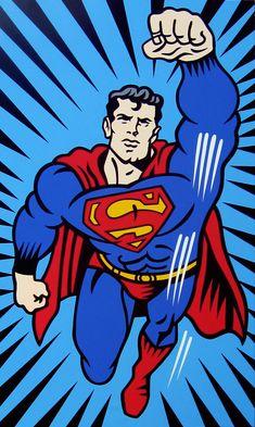 Burton Morris, Pop Art, Superman Wallpaper, Gravure Illustration, Fine Art Posters, Comic Book Heroes, Gifts For Dad, Illustrations, Super Man