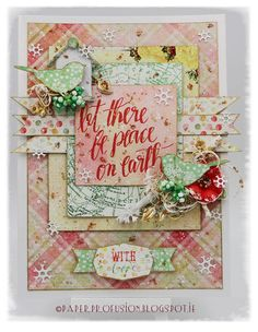Christmas card  #Prima #Sweet Peppermint collections