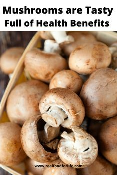 Mushrooms Are Tasty and Full of Amazing Health Benefits - Real Food Health Benefits Of Mushrooms, Mushroom Benefits, Mushroom Recipes, Mushroom Food, Vegan Iron, Real Food Recipes, Vegetarian Recipes, Food For The Gods, Broccoli Benefits