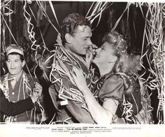 "scene from ""I'll Be Seeing You"" with Ginger Rogers & Joseph Cotton ~ this is the New Year's Eve scene. film 1944 ~ as seen at viviantalksginger..."