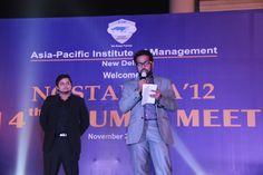 One of our Alumnus addressing the gathering during Nostalgia'12 - Alumni Meet !