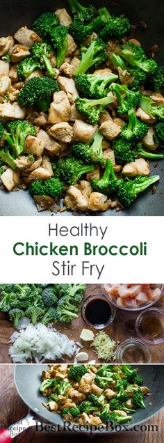 Low Fat, Low Carb and Healthy Chicken Breast and Asian broccoli stir fry recipe. This chicken recipe is easy, quick, made with boneless skinless chicken breast. It's a healthy chinese chicken broccoli stir fry recipe with broccoli and vegetables . Low Fat Chicken Recipes, Low Fat Dinner Recipes, Low Carb Recipes, Paleo Dinner, Healthy Easy Recipies, Low Calorie Chicken Meals, Recipes With Macros, Healthy Broccoli Recipes, Healthy Easy Food