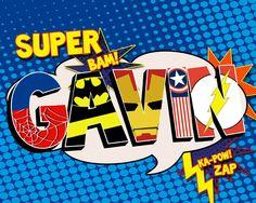 Personalized Superhero Name Print