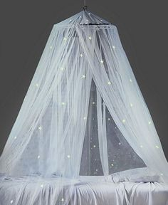 Mombasa Bedding, Glow in the Dark Canopy - Bed Canopies - Bed & Bath - Macy's this is adorable! Dream Bedroom, Girls Bedroom, Bedroom Decor, Bedroom Ideas, Bedroom Lighting, Sibling Bedroom, Bedroom Furniture, Fall Bedroom, Trendy Bedroom