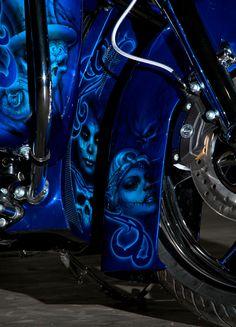 Blue custom front fender