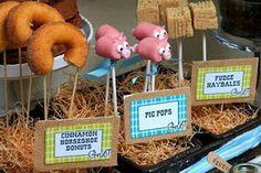 Creative farm party food