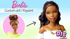 Today's video / tutorial is another barbie makeover/repaint :) I'm uploading it as a bonus video, so I'll still be posting another miniature tutori. Diy Ooak Doll, Ooak Dolls, Barbie Dolls, Barbie Hair, Barbie And Ken, Costume Tutorial, Diy Tutorial, Diy School Supplies, Doll Repaint