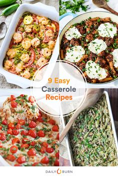 Try these anything-but-boring casserole recipes for a week's worth of healthy meals. They pack flavor and nutrients. via @dailyburn