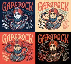 Garorock 2015 on Behance