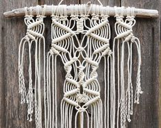LARGE One of a Kind Macramé Wall Hanging on Drift Wood