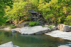 화양구곡의 백미, 금사담과 암서재 Scenery, Detail, Stone, History, Water, Flowers, House, Travel, Beautiful