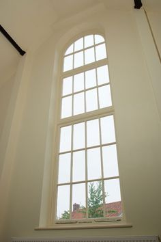Arched school house window - I love the simplicity of this.