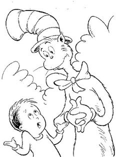 seuss hat coloring pages - Cat In The Hat Coloring Pages